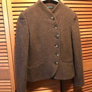 Lauren Ralph Lauren Tan Tweed Jacket